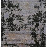 8x10 Modern Hand Knotted Wool and Silk